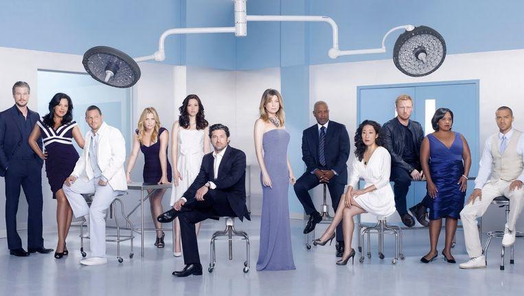 De cast van Grey's Anatomy. Beeld abc