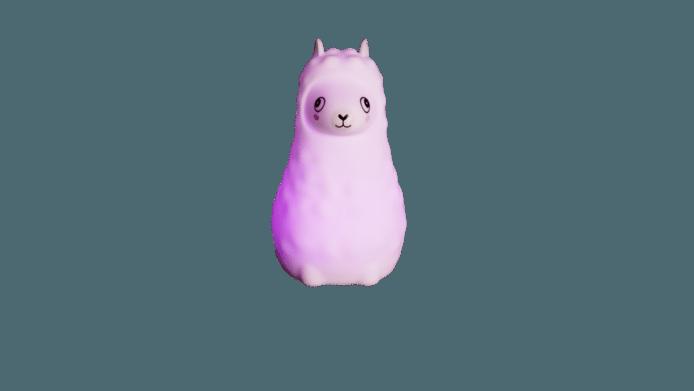 Une chouette veilleuse lama (existe aussi en version licorne).