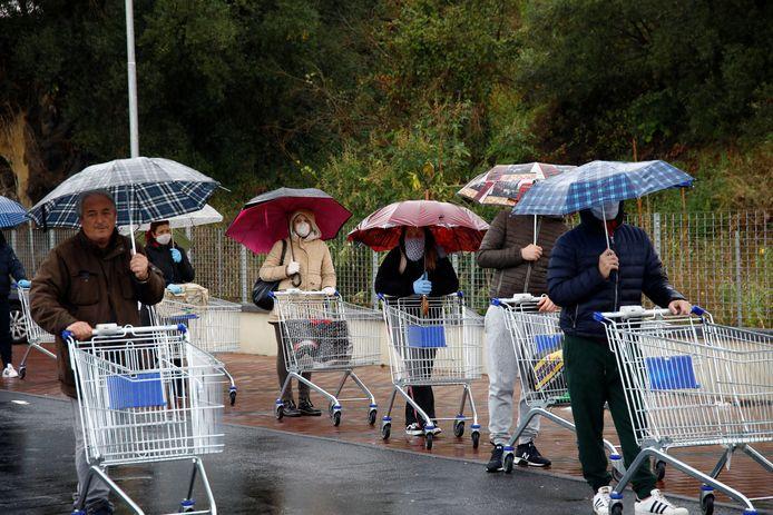 Un supermarché à Catane (Sicile)