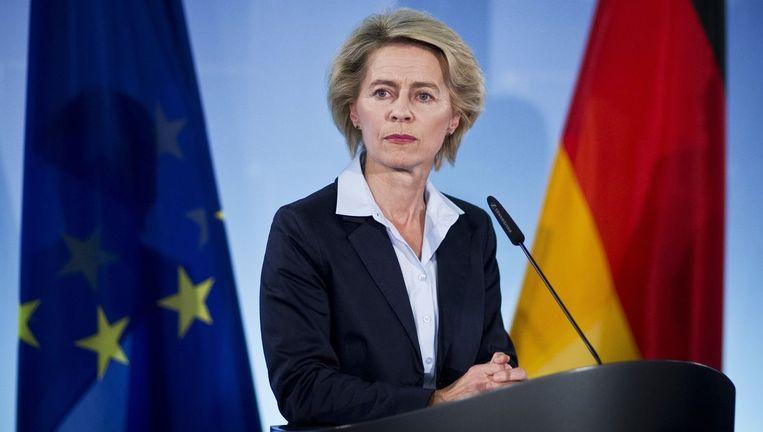 De Duitse minister van defensie Ursula von der Leyen. Beeld PHOTO_NEWS