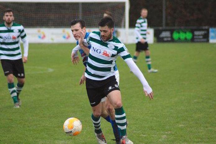 Dennis Kovacevic in het shirt van Zeelandia Middelburg. Komende zomer keert hij terug bij die club. Hij vertrekt bij Serooskerke.