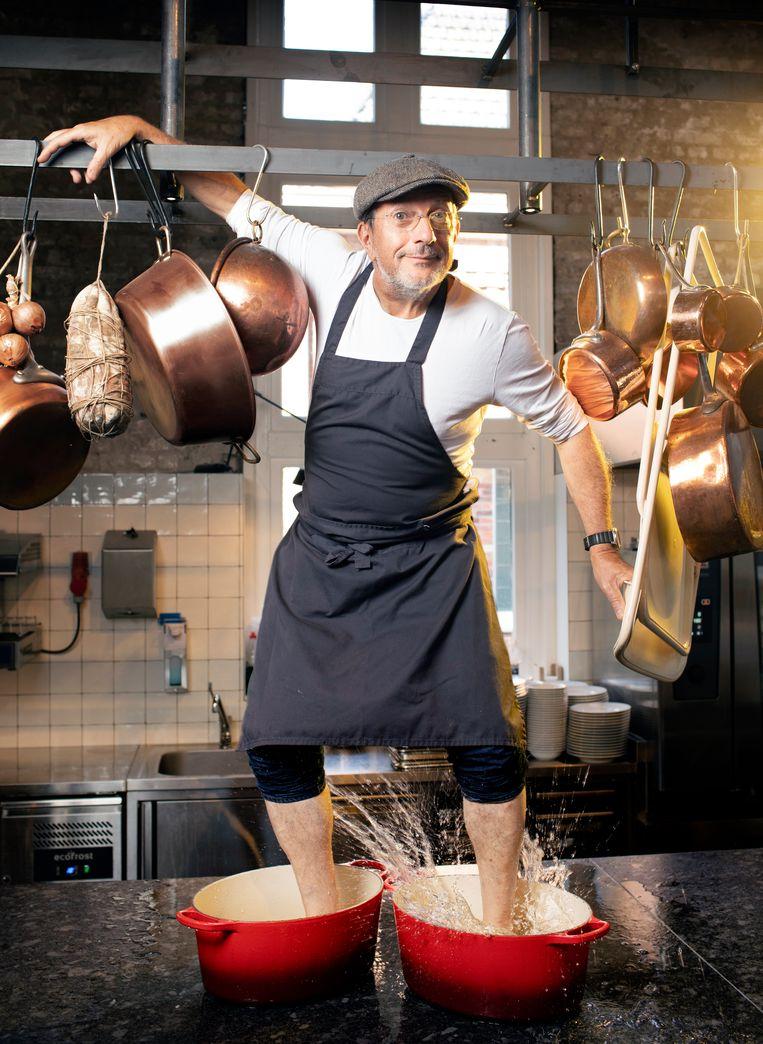 Alain Caron: 'Ik heb de kinderen niet leren koken, wel leren eten.'  Beeld Harmen de Jong