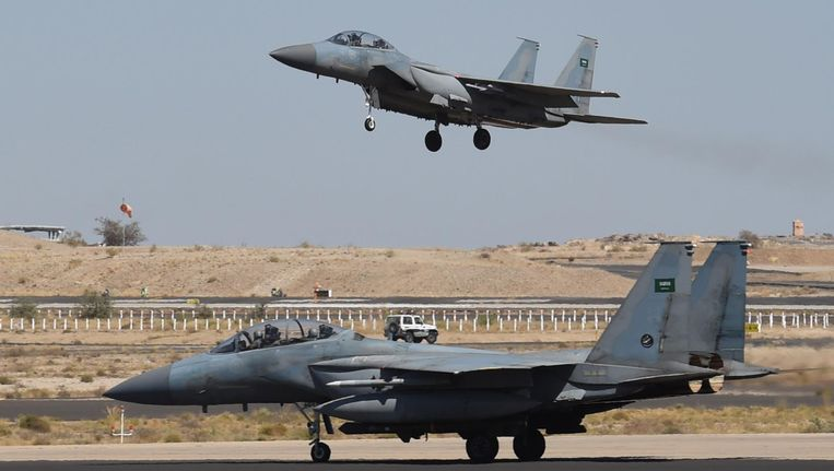 Saoedische F-15's die worden ingezet in Jemen. Beeld AFP