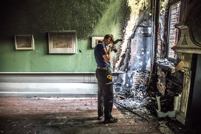 De brand in oktober 2017 richtte veel schade aan in het Stedelijk Museum Zwolle.