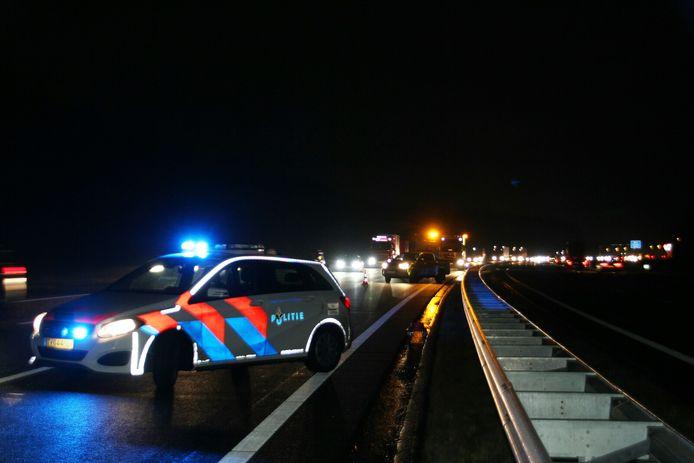 Er stond woensdagochtend een file vanwege een ongeval op de A1 bij Rijssen.