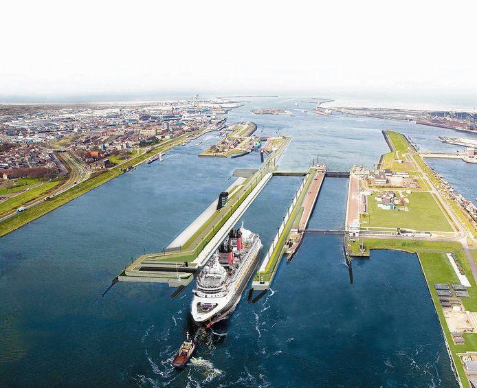 'Zorgt het plan voor Havenstad in Amsterdam (75.000 woningen) er niet voor dat de bouw van de nieuwe Zeesluis in IJmuiden straks een desinvestering is?'