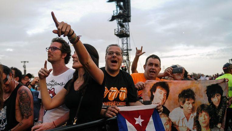 Cubaanse Rolling Stones-fans in Havana Beeld anp