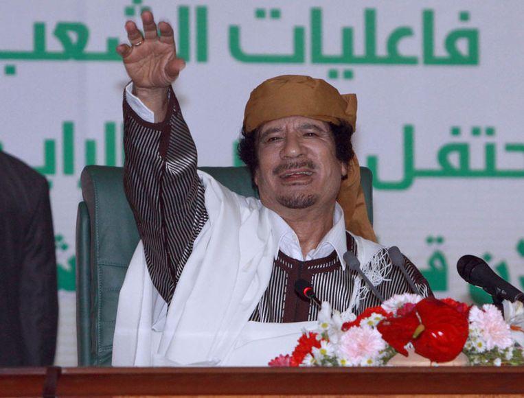 Voormalig Libisch leider Moammar Kadhafi. In 1996 beweerden kapers een boodschap van God voor hem te hebben. Beeld photo_news