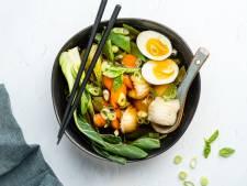 Wat Eten We Vandaag: Dumpling soep met groenten en ei