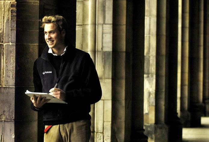 Prins William op de universiteit.
