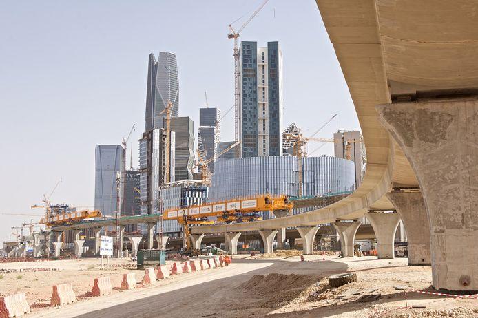 Aanleg van een metrolijn in Riyad in Saoedi-Arabië, door Strukton.