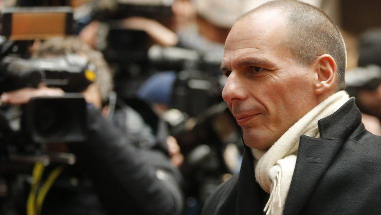 De Griekse minister van Financiën Yanis Varoufakis. Beeld EPA