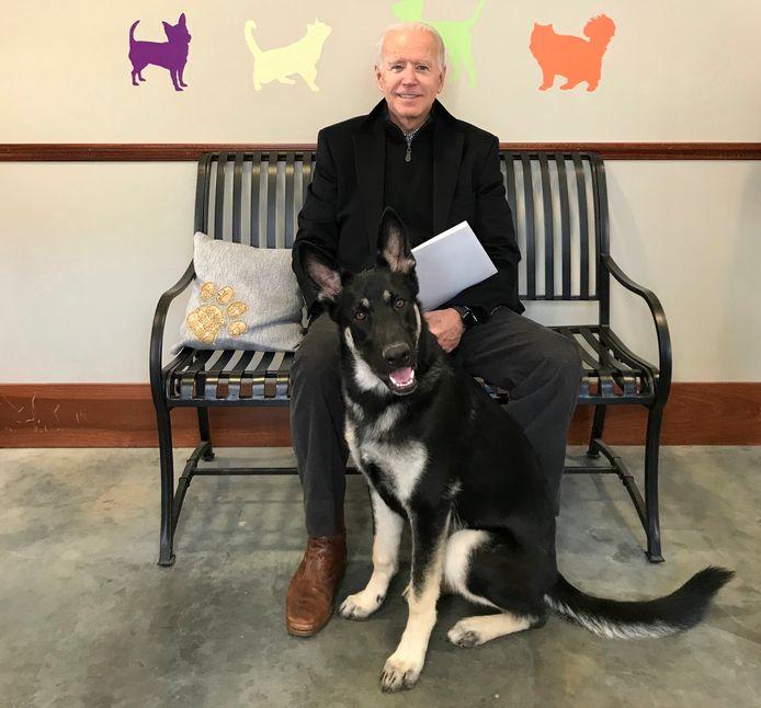 Joe Biden et son chien Major en 2018.