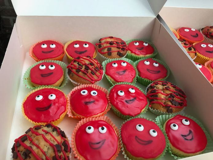 Het Lyceum verkocht deze cupcakes.