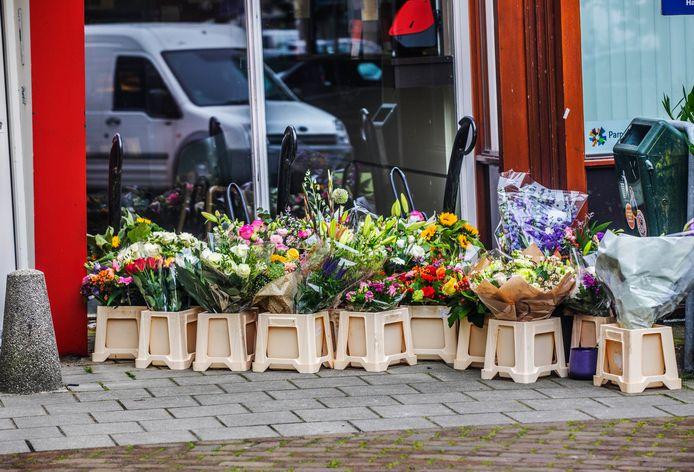 Bloemen aan de Leggelostraat 85.