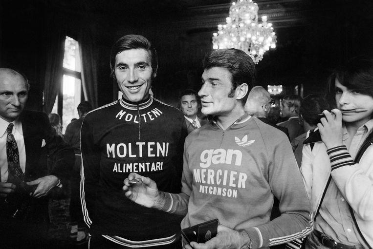 Merckx (l) en Poulidor (r) vochtten heel wat heroïsche duels uit.