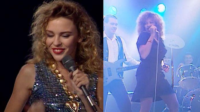 Kylie Minogue en Tina Turner stonden ooit op het podium van Tien Om Te Zien