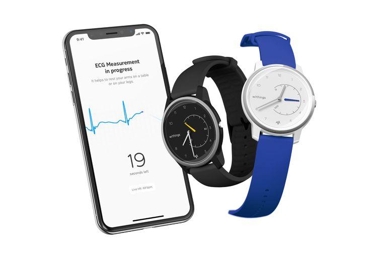 Withings bracht een smartwatch op de markt met een ingebouwde hartslagmeter die medisch bruikbare gegevens genereert. Beeld Withings