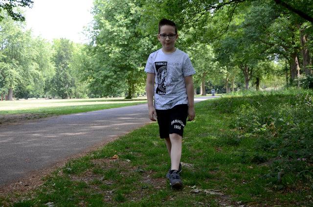 Jayden Verelst liep ook een etappe van de vierdaagse in het Leijpark.