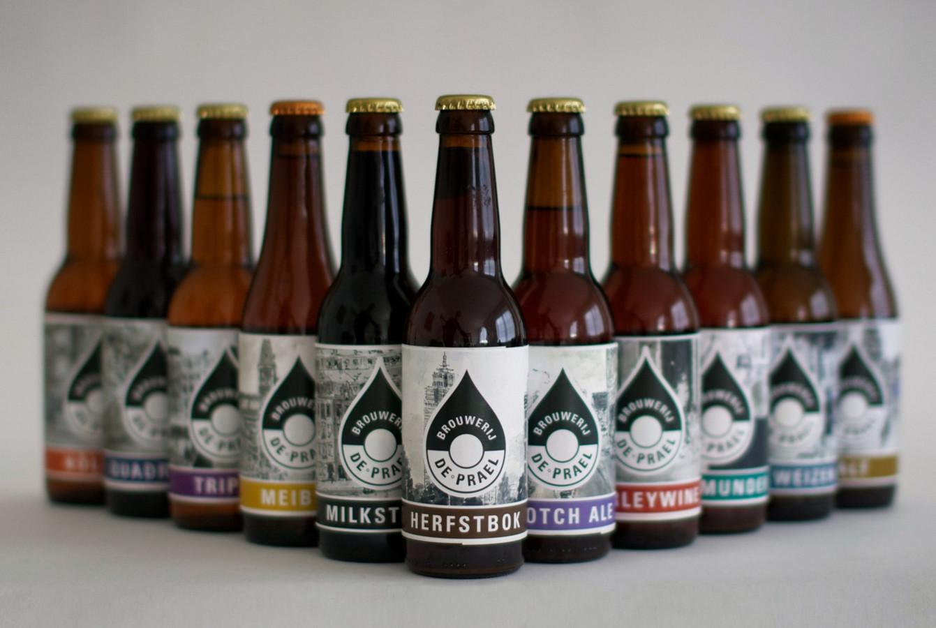 De bieren van brouwerij De Prael.