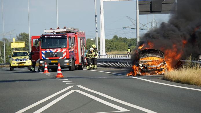 Autobrand A73 Beuningen