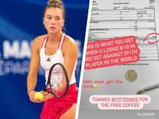 Corona treft ook tenniskelder: speelster houdt na drie zware sets 2,25 euro over