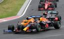 De botsing van Max Verstappen met Lando Norris, waardoor de Nederlander op ruime achterstand kwam te liggen.