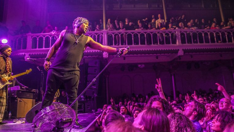 D'Angelo gisteravond in Paradiso. Beeld Amaury Miller