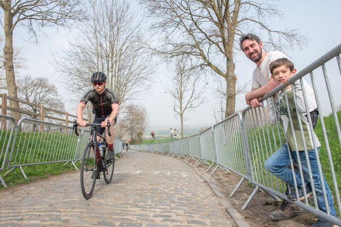 Bjorn en Nander uit Kluisbergen kwamen deze week al eens kijken op het parcours.