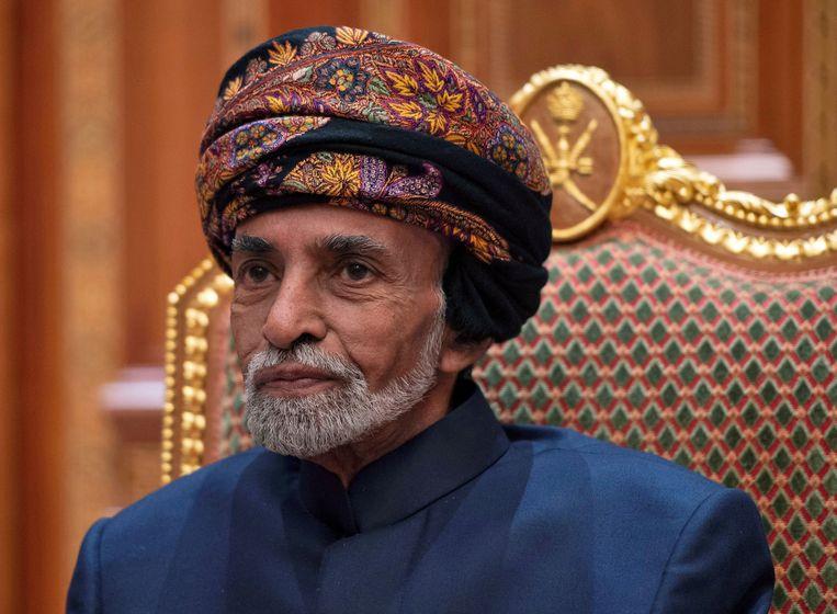Sultan van Oman Qaboos bin Said in januari vorig jaar. Beeld REUTERS