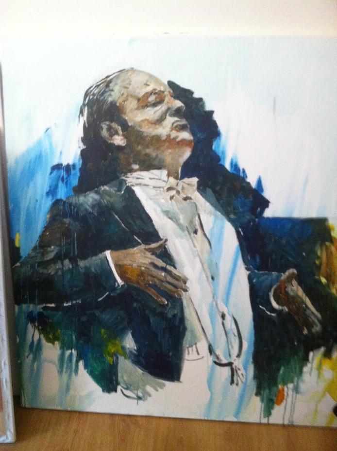 Een van de schetsen die Kamphuis maakte voor het portret van Jan Willem de Vriend