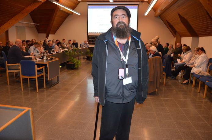 Inwoner Danny Geeroms uit Denderhoutem stelde in maart een vraag tijdens het eerste vragenhalfuurtje in Haaltert.
