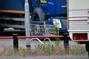 De winkelwagen waarmee het ongeluk gebeurde.