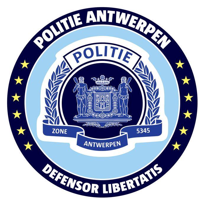 Het officiële logo van het Antwerpse politiekorps.