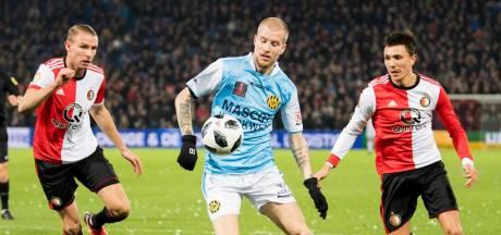 Feyenoorders Berghuis en Van Beek raken slaags op de training