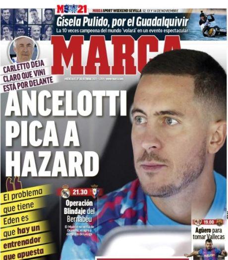 """""""Piqué par Ancelotti"""", """"une autre chance"""": Eden Hazard fait la Une en Espagne"""