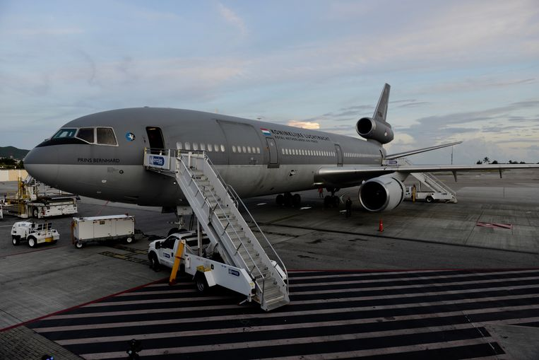 Het zustervliegtuig van de KDC-10 van de Koninklijke Luchtmacht dat donderdag over Nederland vloog Beeld Hollandse Hoogte /  ANP