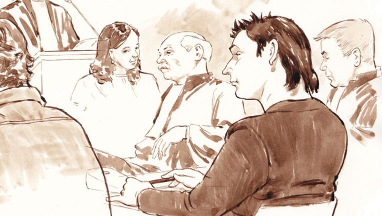 Robert M. tijdens de rechtszaak van de Amsterdamse zedenzaak Beeld anp