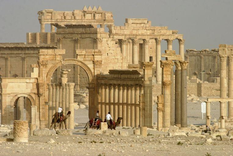 De Tempel van Bel toen deze nog stond. Beeld reuters
