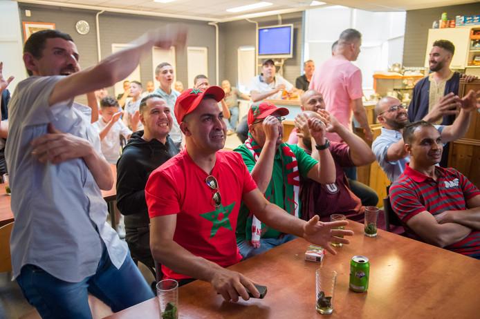Gemiste kans voor Marokko, tijdens de wedstrijd tegen Iran.