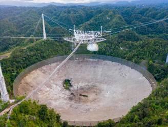 Gigantische telescoop, bekend van James Bond, ingestort op Puerto Rico