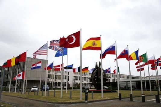 Het hoofdkwartier van de NAVO in Evere.