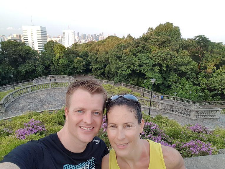 Robin Teurlings en zijn vrouw Claudia. Beeld Privéfoto