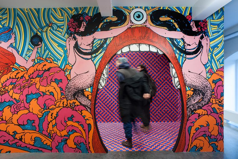 De tentoonstelling 'Dream Box' in MIMA. Opgaan in een psychedelische punktrip. Beeld RV Mima