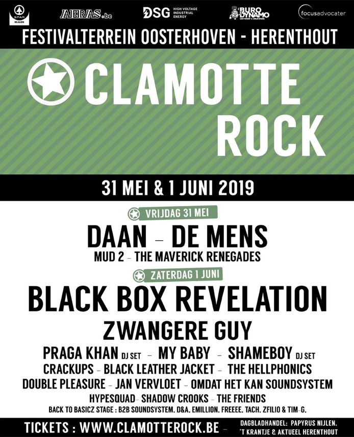 Affiche Clamotte Rock