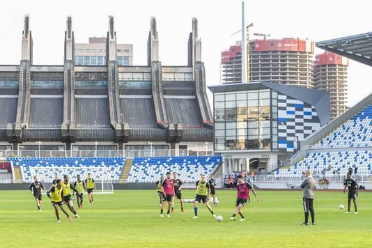 Het Fadil Vokrri Stadium in Pristina, Kosovo.
