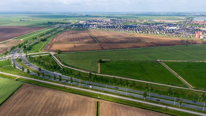Hoeveel groen mag in Zwolle opgeofferd worden aan woningbouw? Op deze plek aan de rand van Stadshagen verrijst woonbuurt De Tippe.