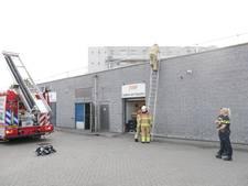 Brand bij supermarkt Coop in Arnhem