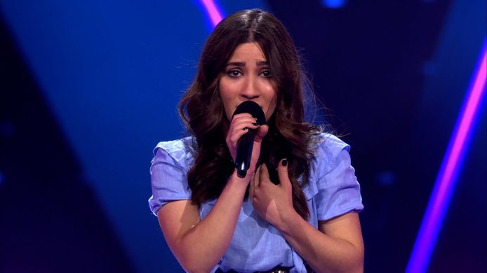 Hanin Al Kadamani in The Voice.