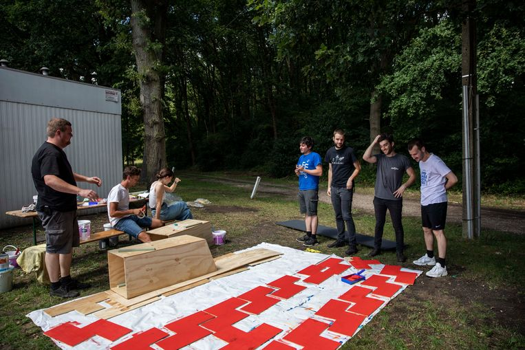 Opbouw AFF-Festival in Genk.